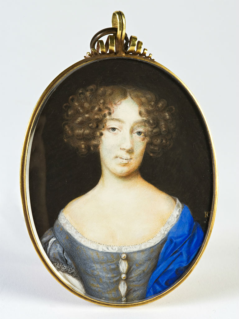 A Lady, called Louise de Keroualle, Duchess of Portsmouth (1649-1734), by Peter Cross, signed with monogram, circa 1670.