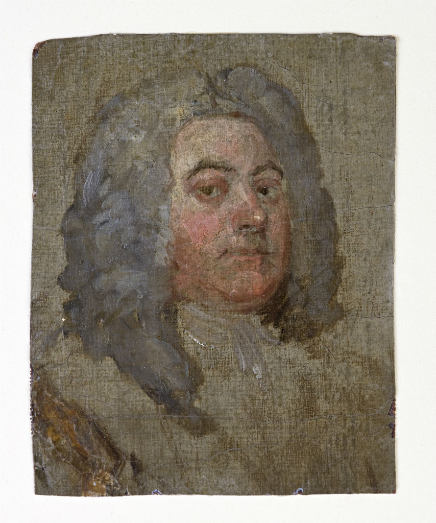 Georg Friedrich Handel (1685-1759), by William Hogarth (1697-1764), circa 1740.