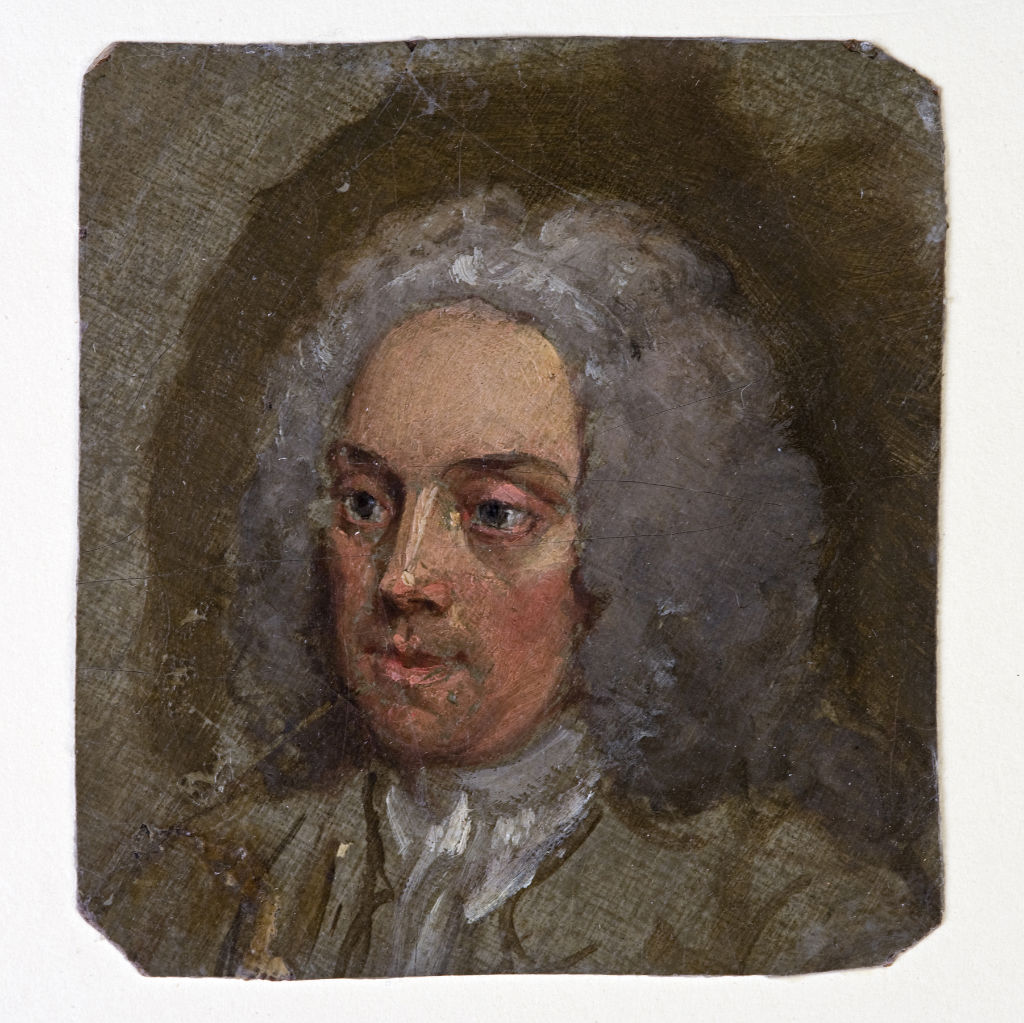 Said to be a self-portrait, by William Hogarth, circa 1740
