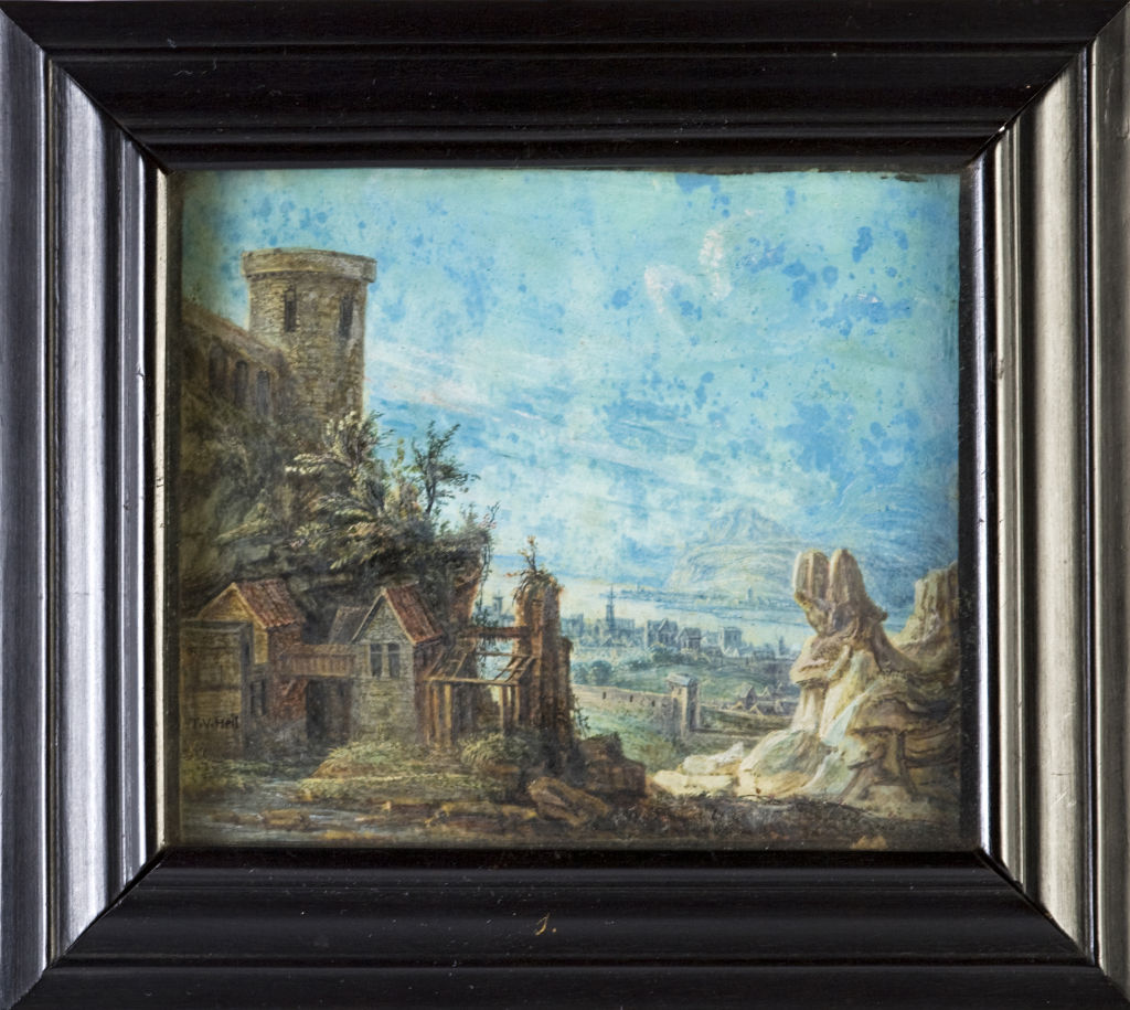 A landscape by T.V. Heil (1645-1692), signed, mid 17th Century.
