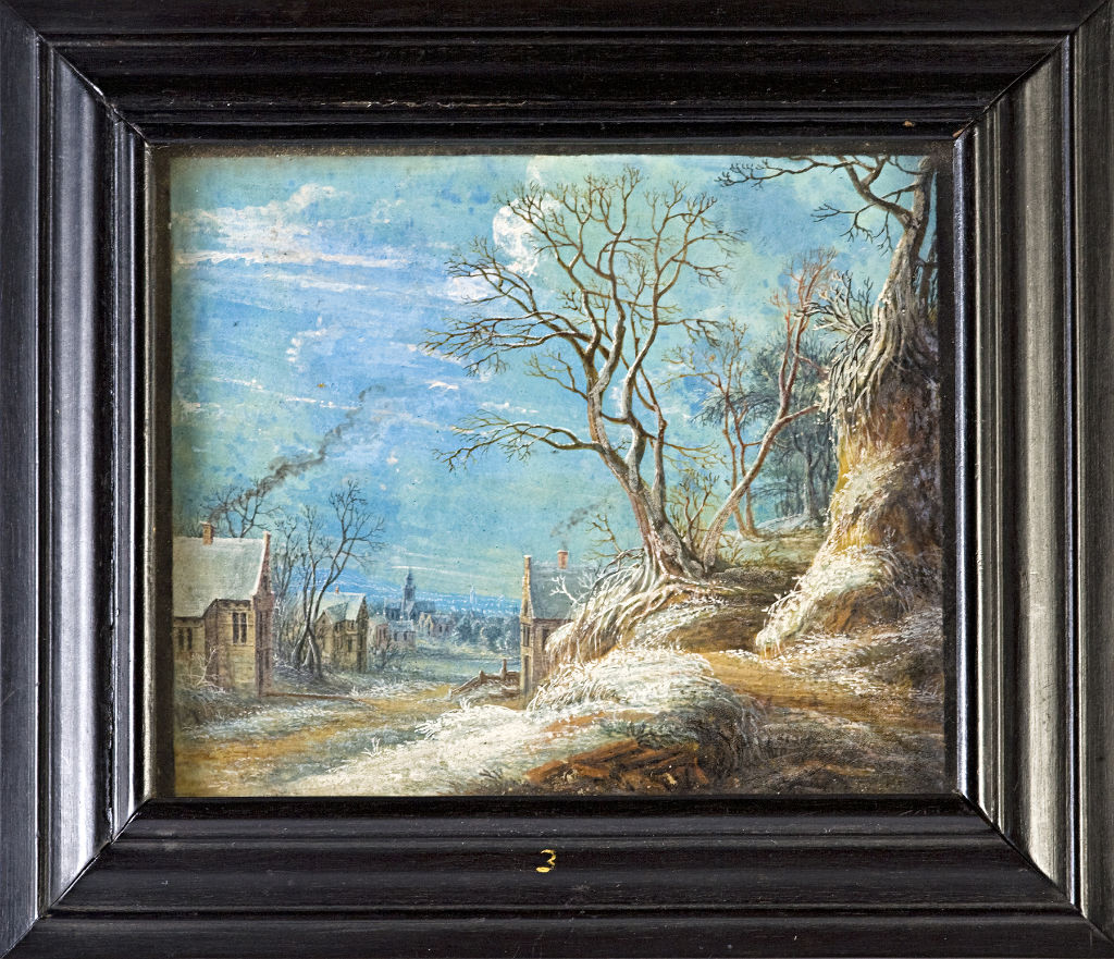 A Winter Landscape by T.V. Heil, signed, mid 17th Century.