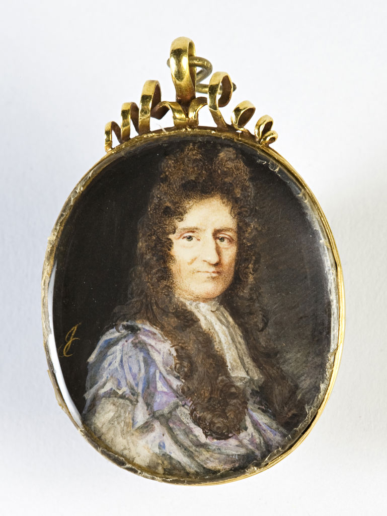 Sir Isaac Newton by John Cross, signed with monogram, circa 1700.