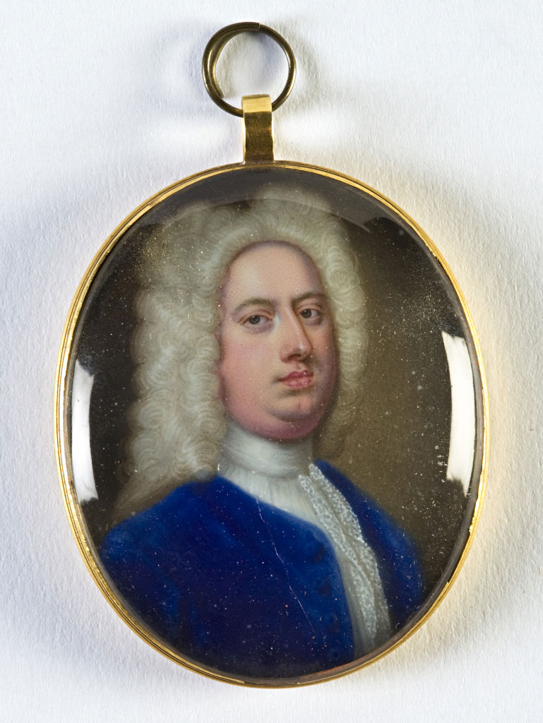 Brownlow, 8th Earl of Exeter (1701-1754), by Christian Friedrich Zincke, (1685-1767).