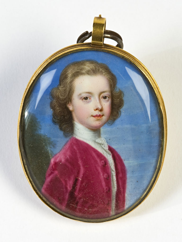 Brownlow, 9th Earl of Exeter, aged six and a half, by Christian Freidrich Zincke, (1685-1767).