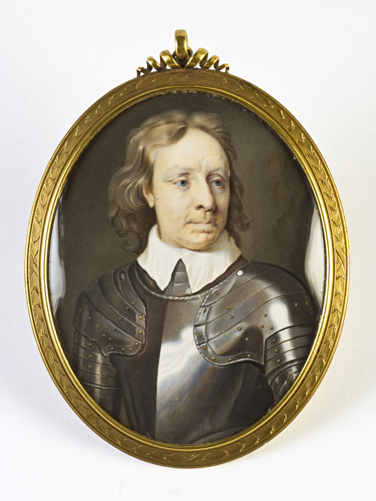 Oliver Cromwell, by Christian Richter, after Samuel Cooper, circa 1715.