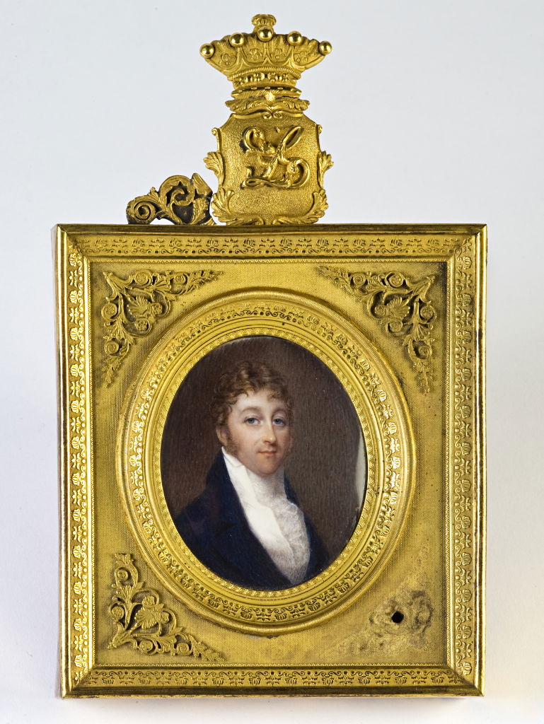 Thomas Pakenham, 2nd Earl of Longford (1774-1835), father of Georgiana, Marchioness of Exeter, French School, in the manner of J-B Isabey, circa 1820.