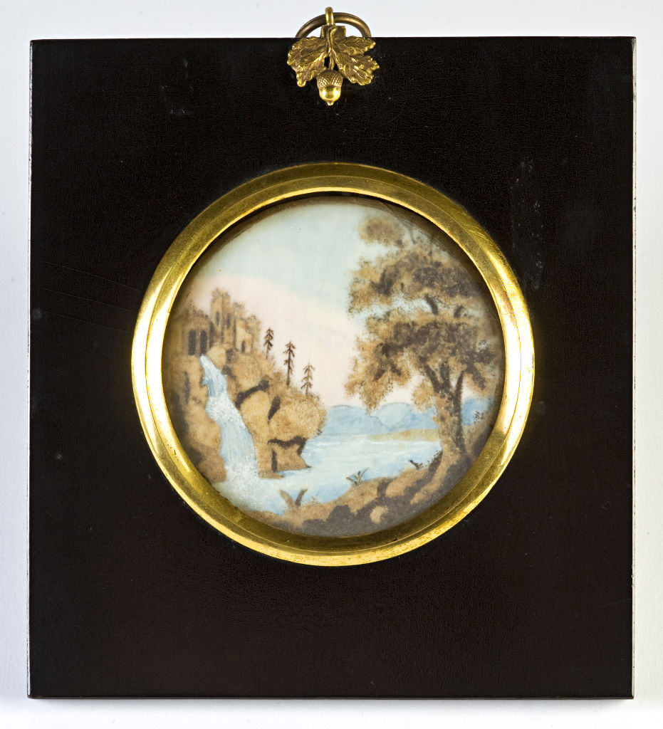 A hair landscape, 19th Century.