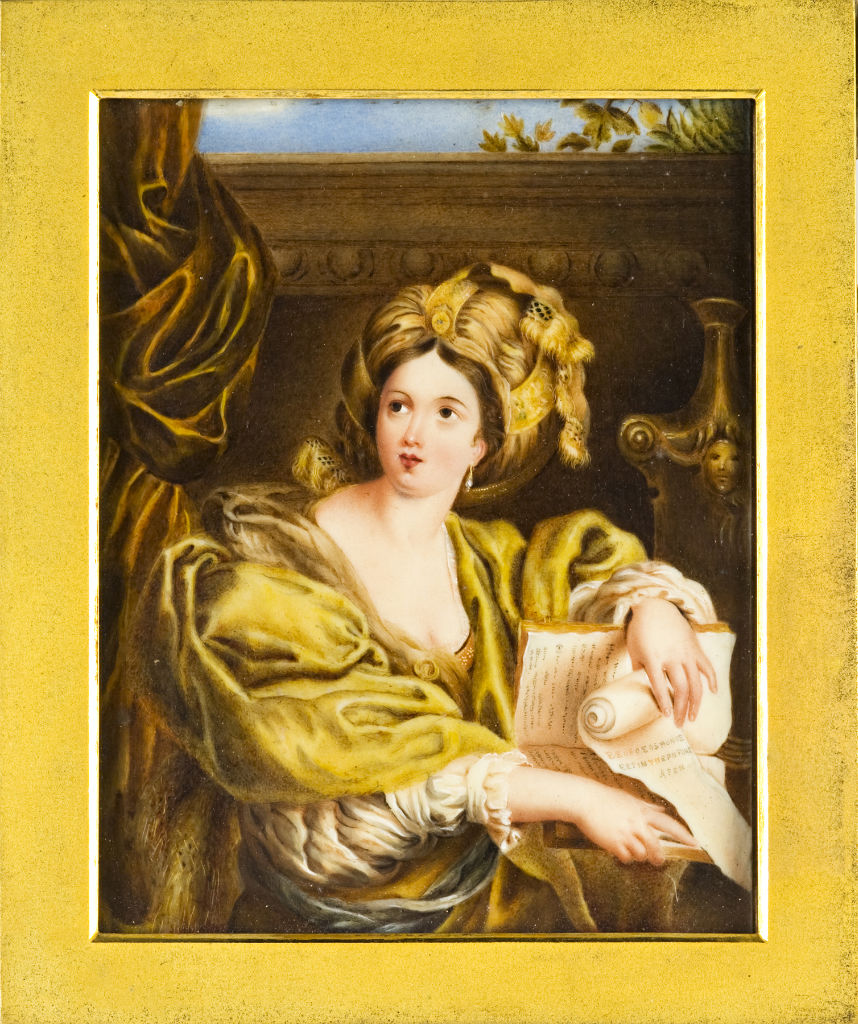 The Cumean Sibyl, English School, after Domenichino, 19th Century.