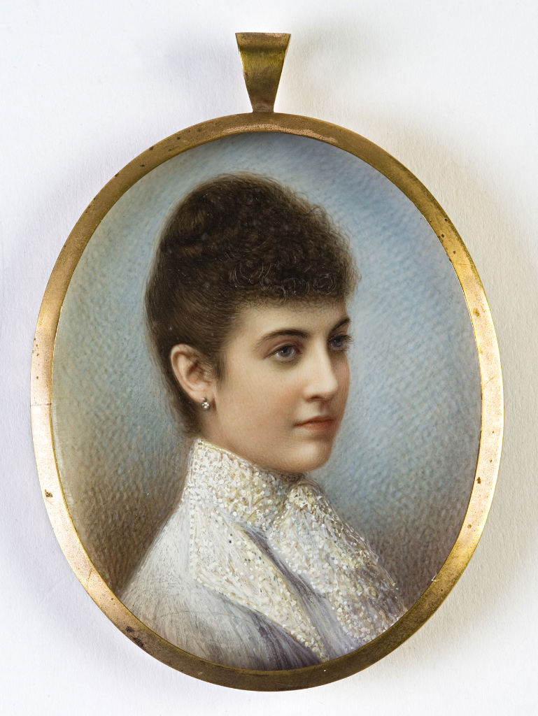 A tinted photograph of Lady Louisa Alexandrina Cecil.