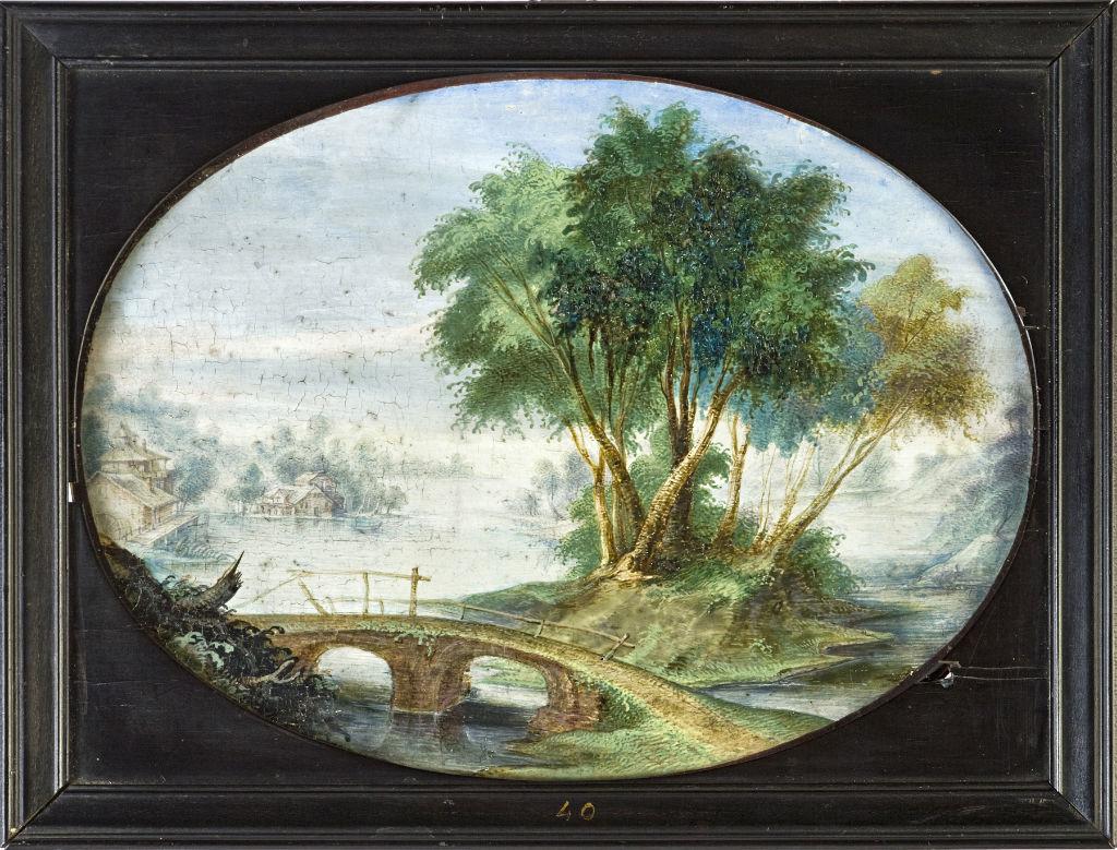 A river landscape, Flemish School, later 17th Century.