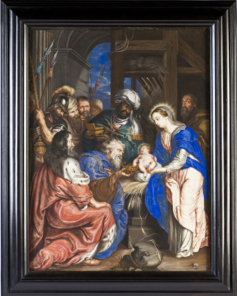 The Adoration of the Magi, by Nicholas Dixon, after Rubens, circa 1680.
