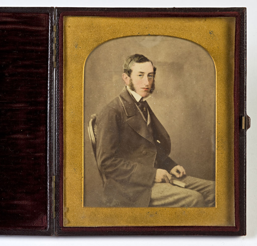 A tinted photograph of a Gentleman, by Lock and Whitfield, circa 1850.
