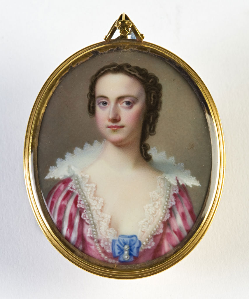 Letitia, Countess of Exeter, first wife of Brownlow, 9th Earl of Exeter, by Andre Rocquet (1701-1758).