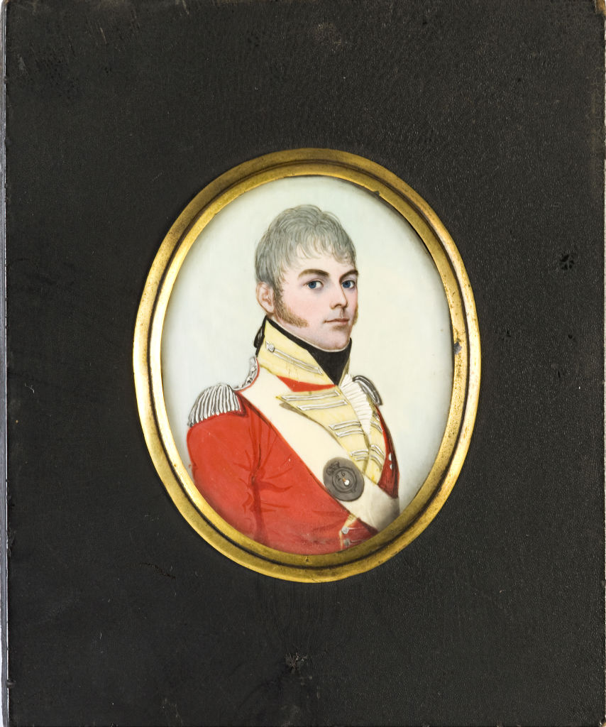 Captain Hoggins, brother of Sarah, Marchioness of Exeter, by Frederick Buck, circa 1805.