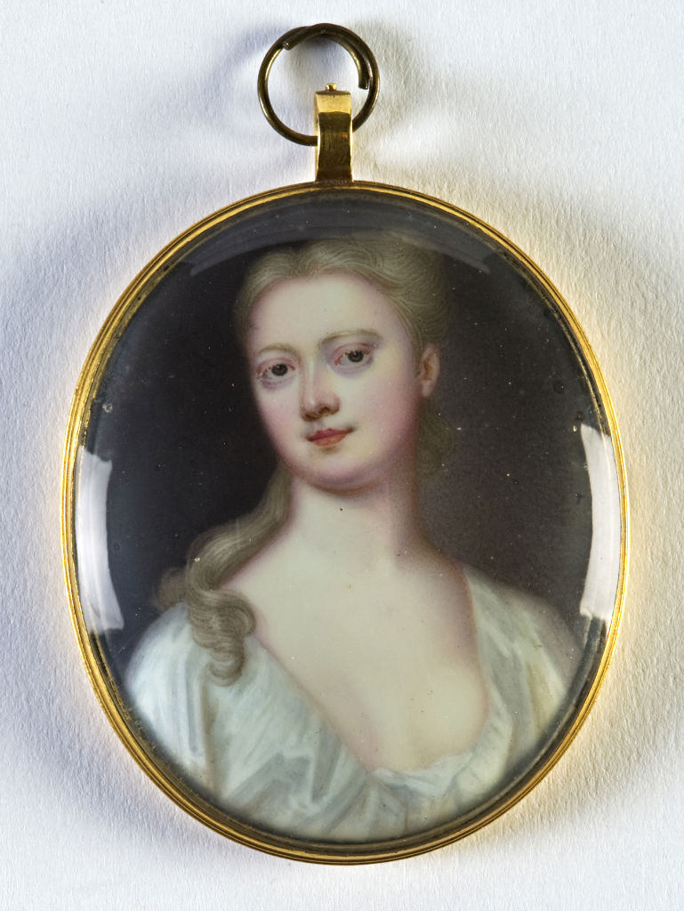 Hannah Sophia, Countess of Exeter, née Chambers, by Christian Friedrich Zincke, (1685-1767).