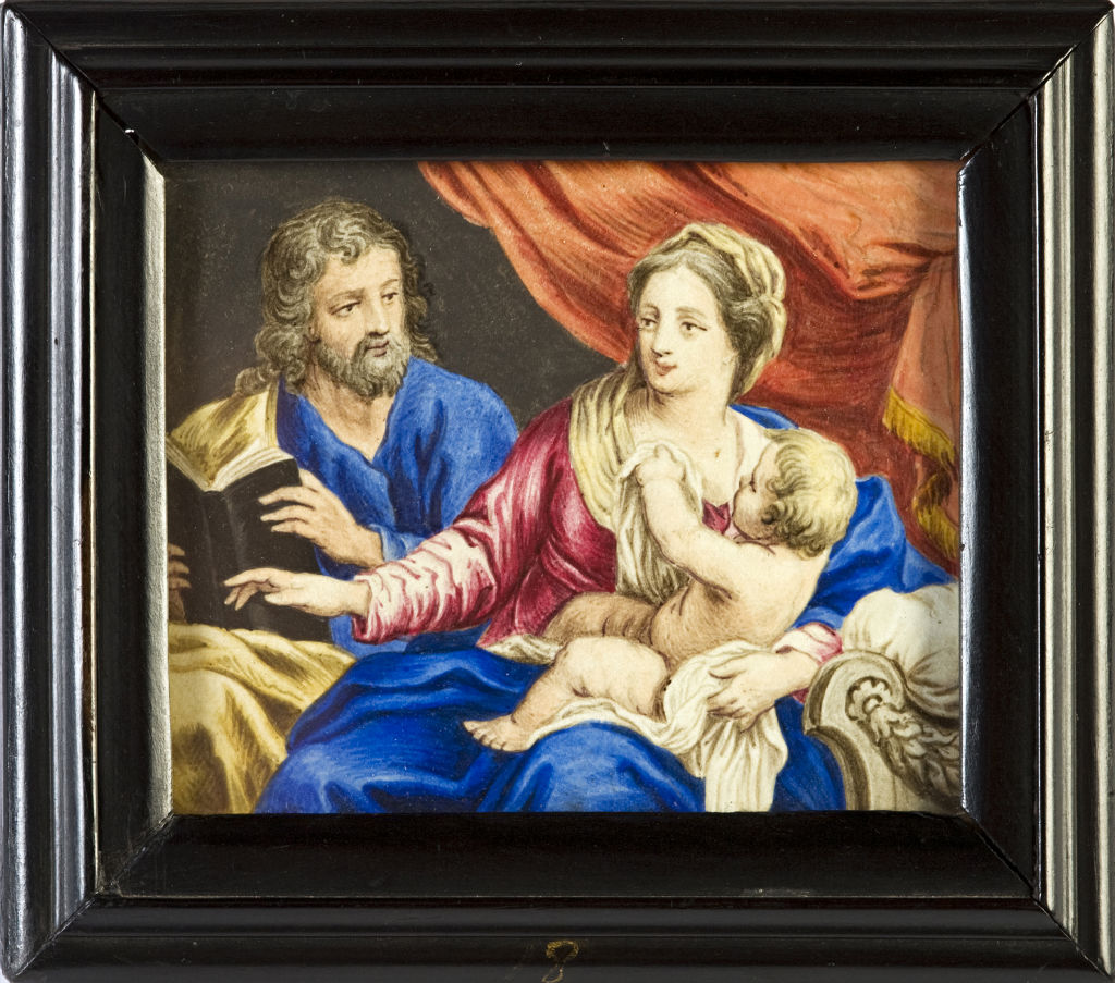 The Virgin and Child with Saint Joseph, Continental School, late 18th Century.