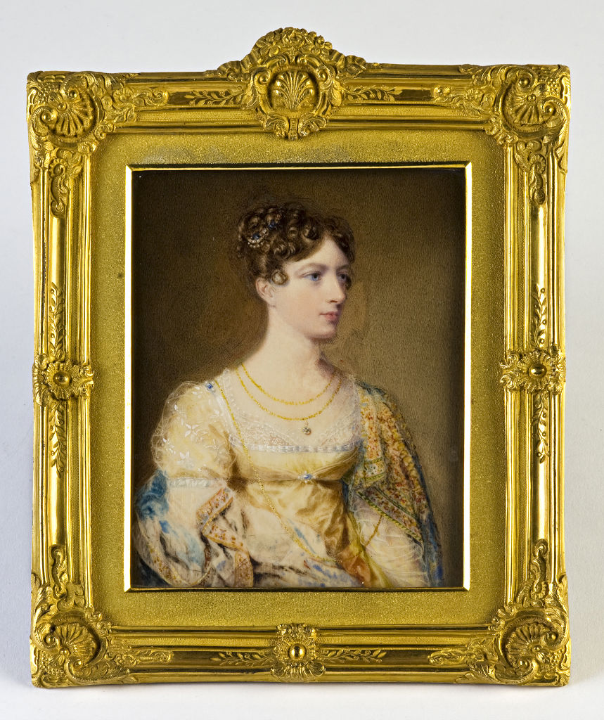 Elizabeth Poyntz, sister and heiress of George, 8th Viscount Montagu and mother of Isabella, wife of Brownlow, 2nd Marquess of Exeter, by Sir William John Newton.