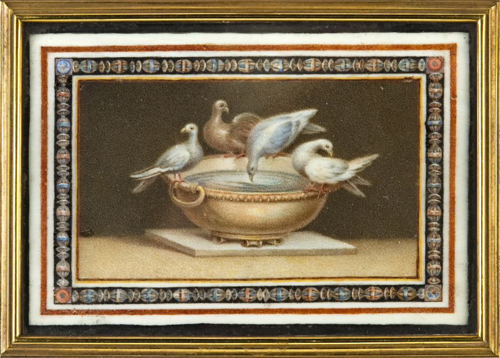 A miniature of the Capitoline Doves of Pliny, by James Byres, after the antique.