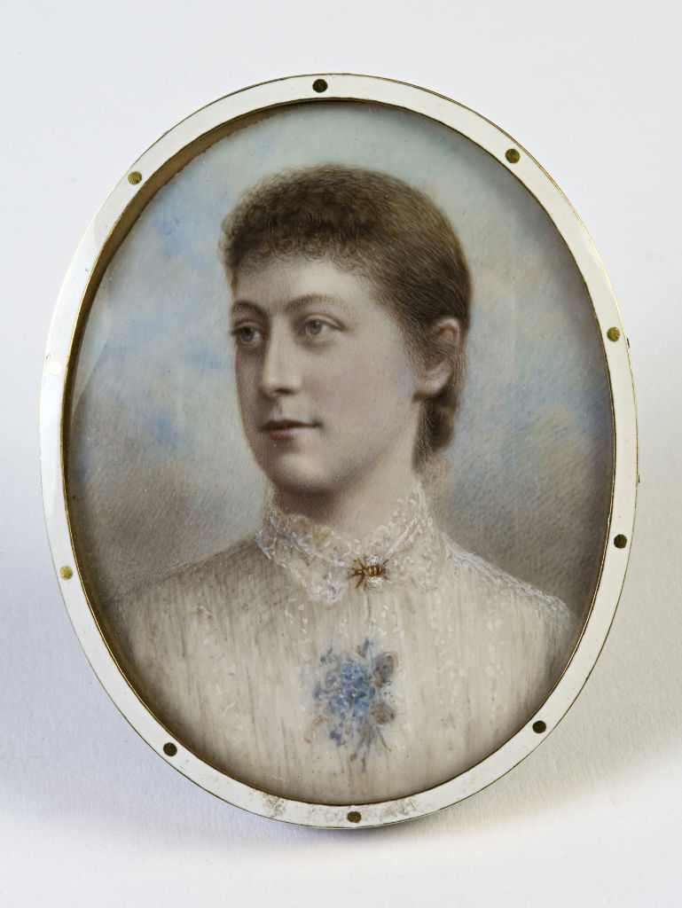 A tinted photograph of Lady Mary Hozier, nee Cecil, by Hargreaves, late 19th Century.