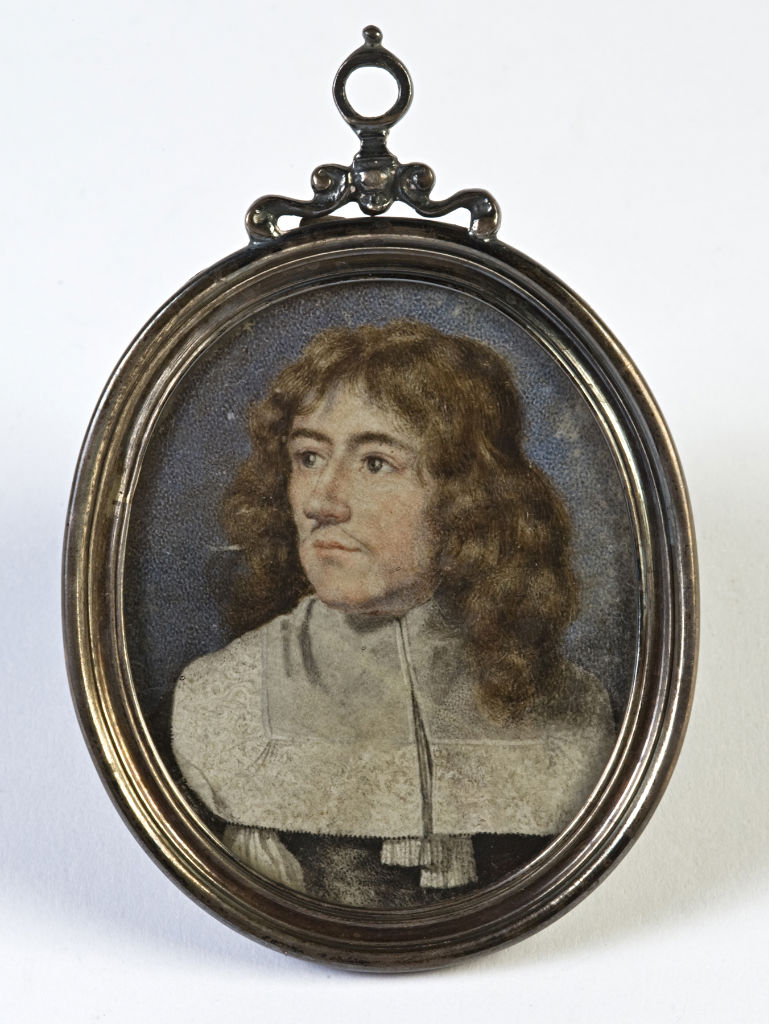 A miniature of a Scholar, said to be Justus Lipsius, Continental School.