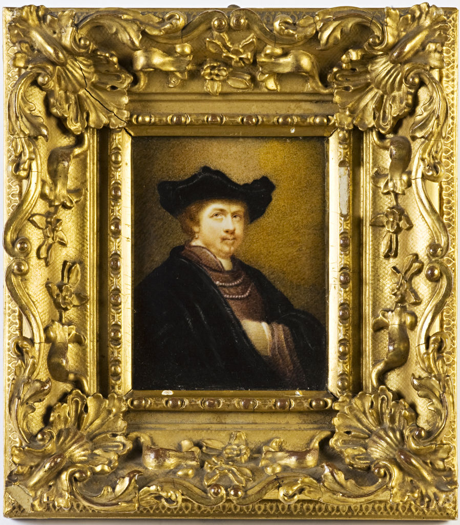 Rembrandt, after a self-portrait, English School, 19th Century.