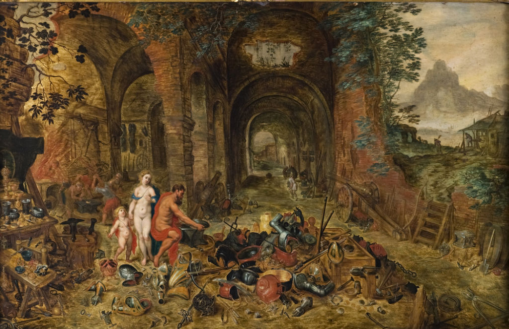 Studio of Jan Breughel the Elder, </br> an Allegory of the Element of Fire.