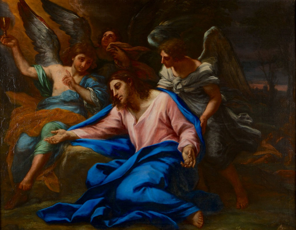 The Agony in the Garden, by Carlo Maratta (1625-1713).