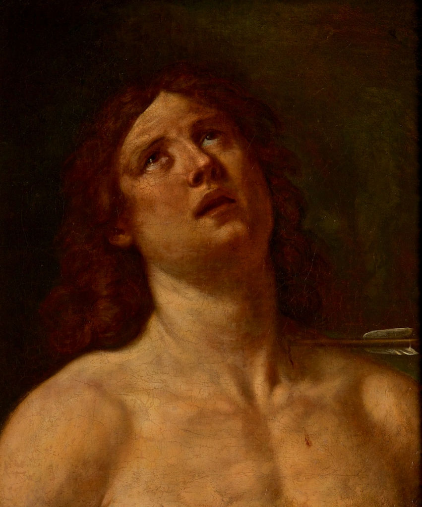 The Head of St. Sebastian, by Francesco Albani (1578-1660).