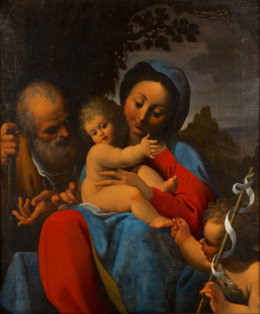 The Holy Family with the Infant Saint John the Baptist, Bartolomeo Schedoni (1570-1615).