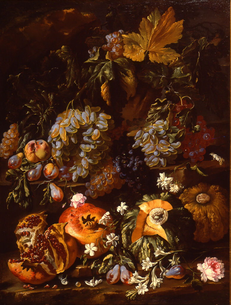 Giovanni Battista Ruoppolo, </br> a Still Life of Fruit with Pomegranates.