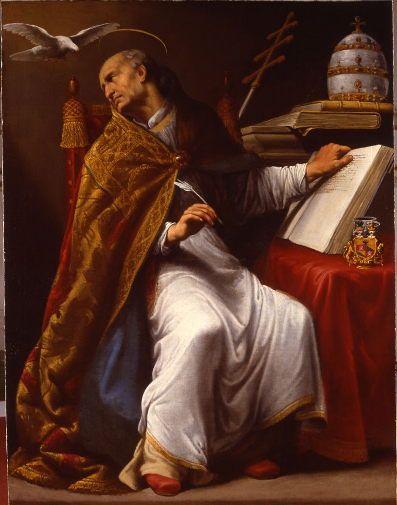 The Inspiration of St Gregory by Carlo Saraceni (1579-1620).