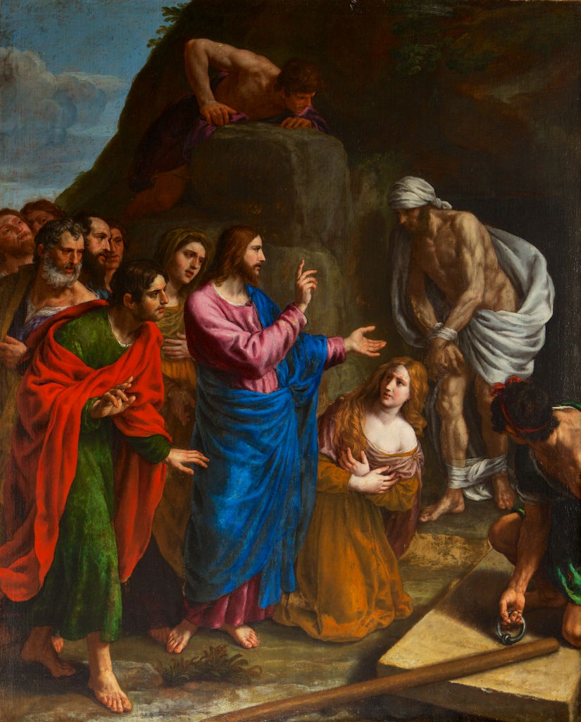 Alessandro Turchi (1578-1649), The Raising of Lazarus.