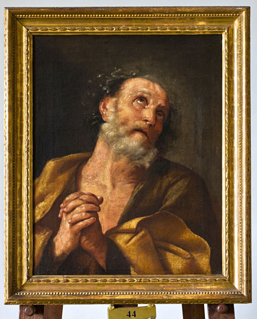 Studio of Guido Reni, </br> The Penitent Saint Peter.