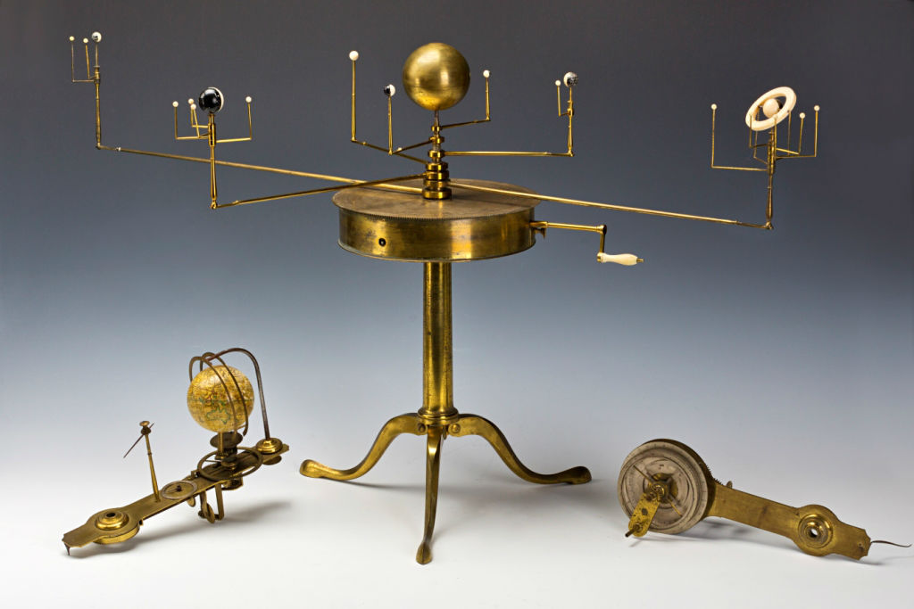 A Brass and Ivory Planetarium or Orrery, by  A. W. & S. Jones, London, circa 1800.