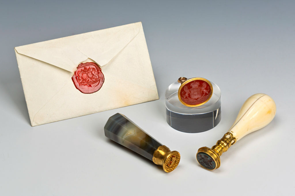 A Group of Three 19th Century Desk Seals.