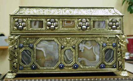 An Italian silver gilt casket, second half 18th Century.