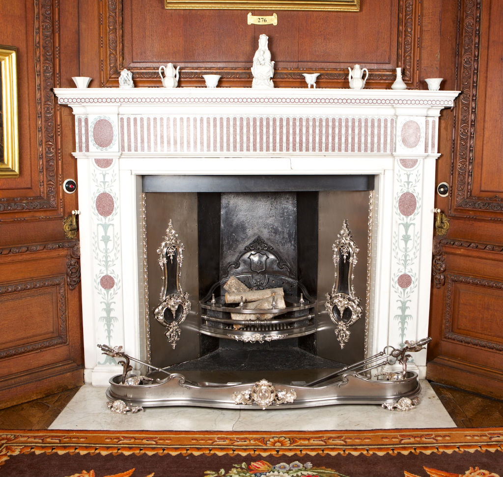 A George III Carrara marble chimneypiece by John Richter, circa 1790.