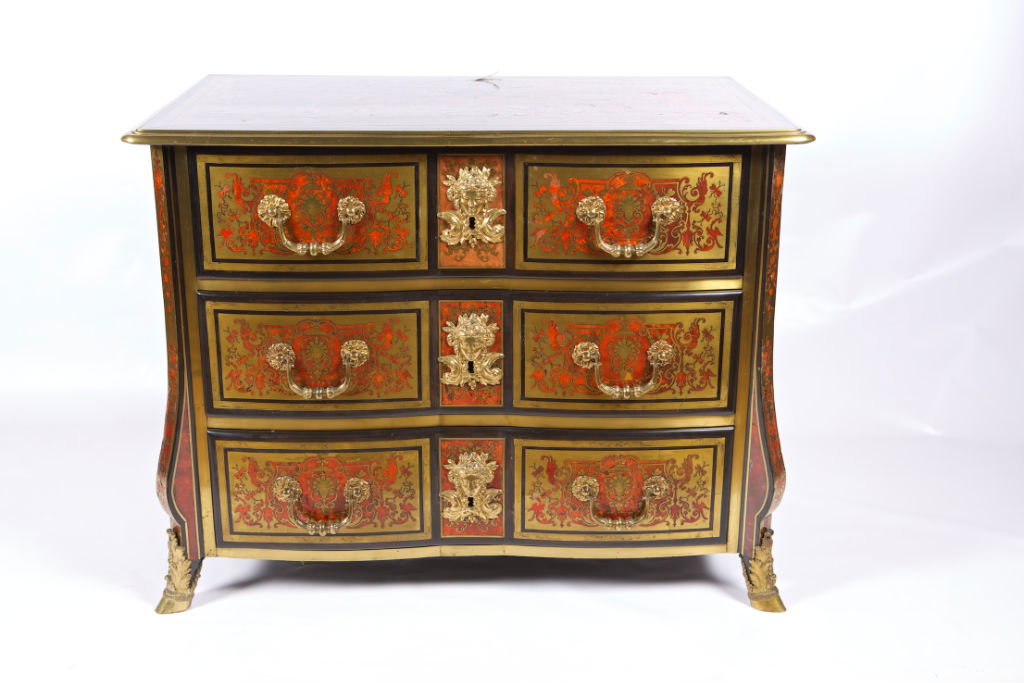 A Louis XIV Boulle commode, circa 1680.