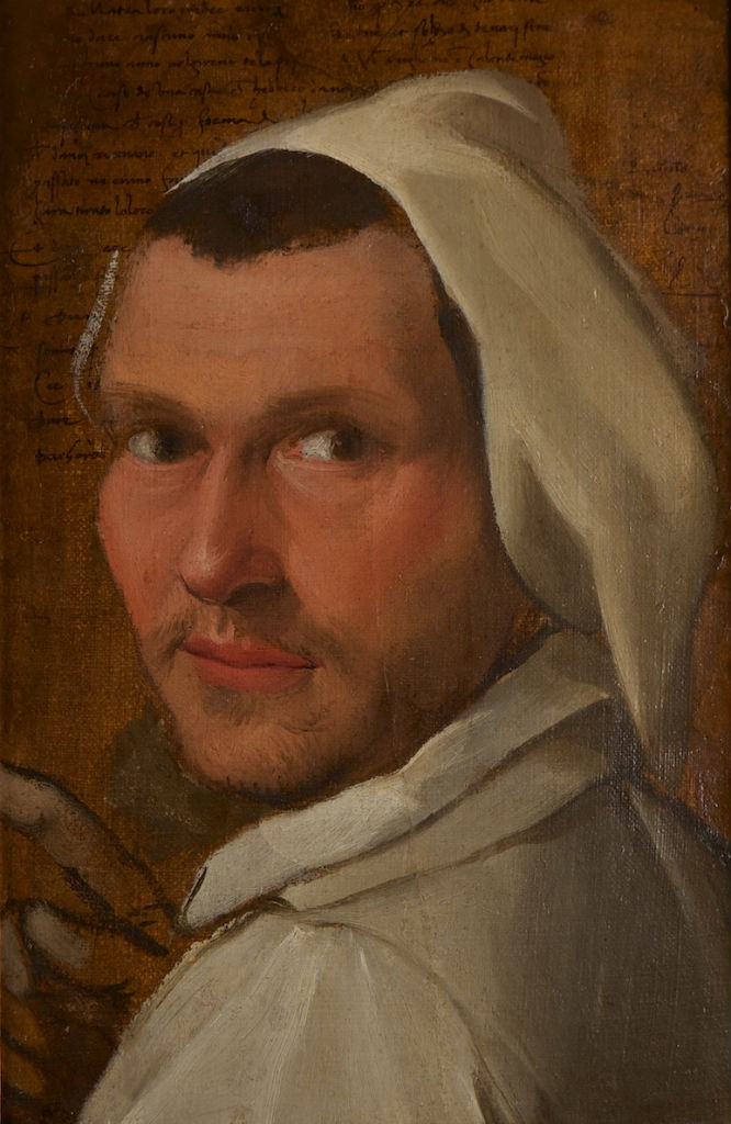 Circle of Annibale Caracci. </br> The Head of a Carthusian Monk.