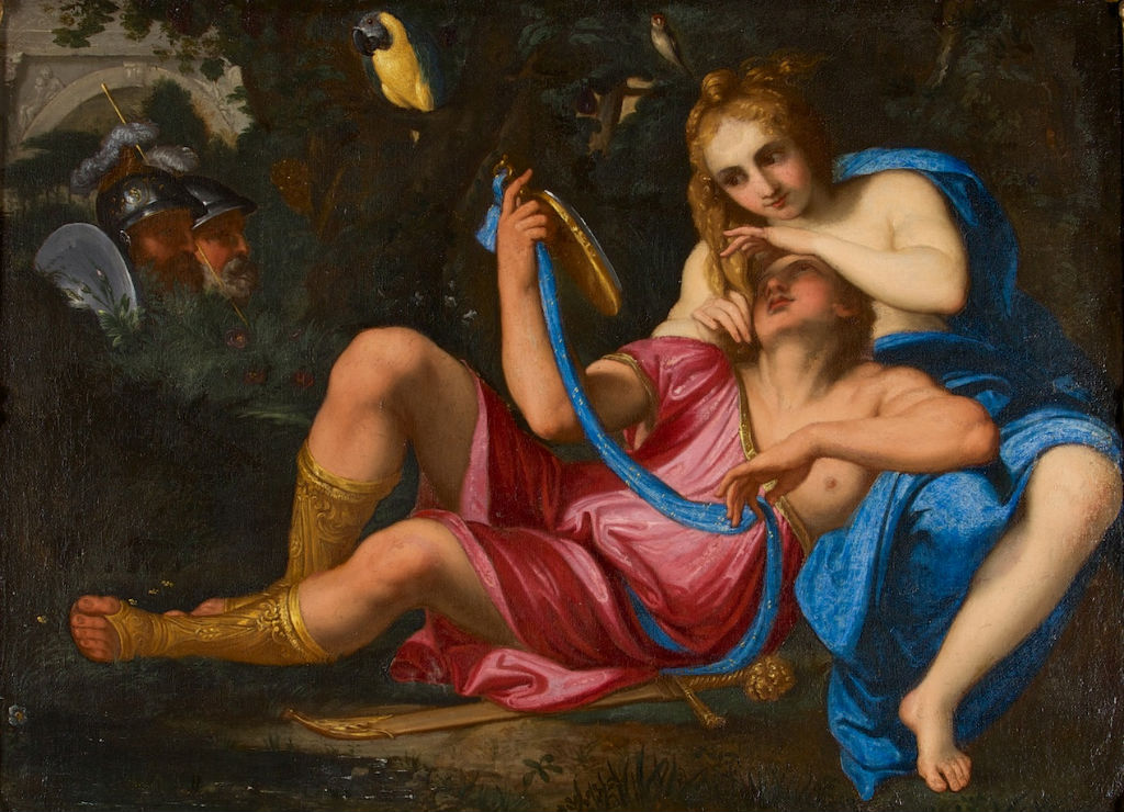 After Annibale Carraci and Antonio Maria Panico, </br> Rinaldo and Armida.