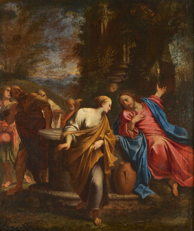 After Annibale Carracci, </br> Jesus and the Woman of Samaria.