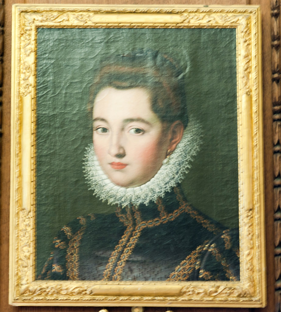 Attributed to Scipione Pulzone (1555-1594), </br> A Lady of the House of Parma.