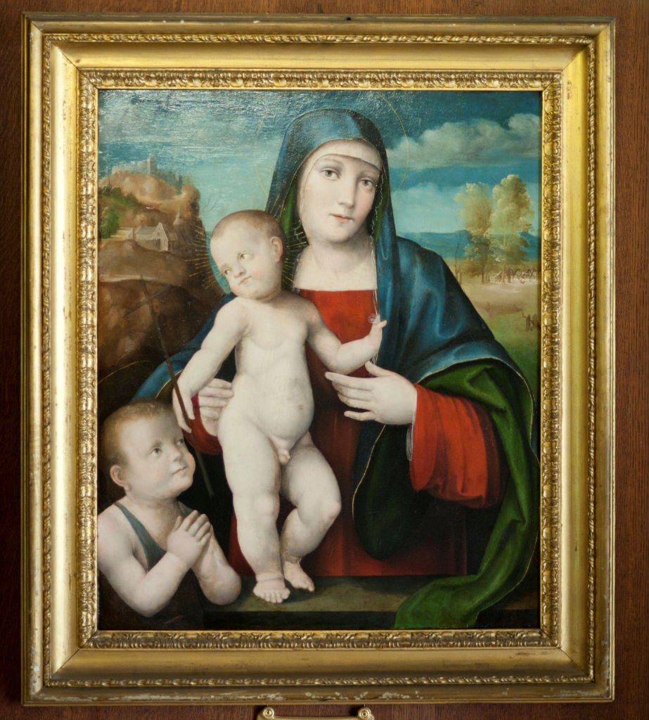 Giacomo Francia, </br>  The Virgin and Child with the Infant Baptist.