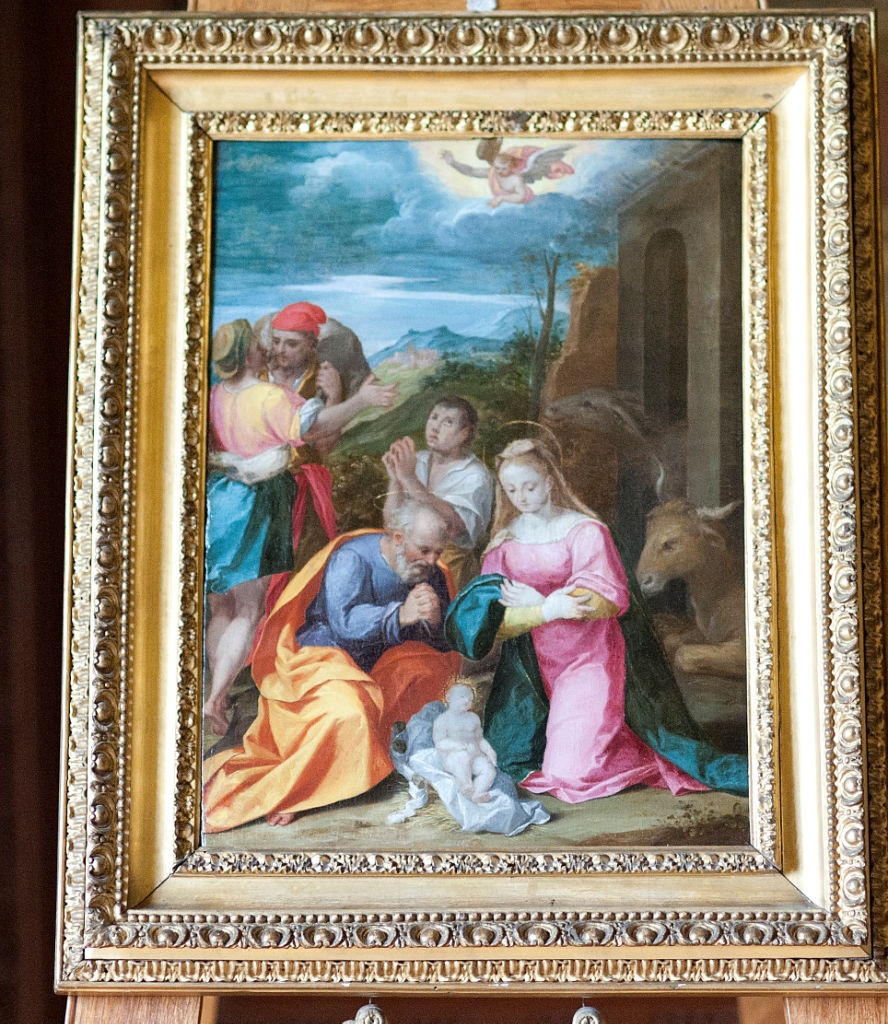 Siennese School, 16th Century, </br> The Nativity.