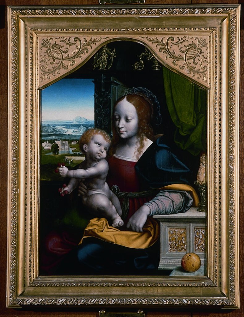 Joos van Cleve, </br> The Virgin and Child.