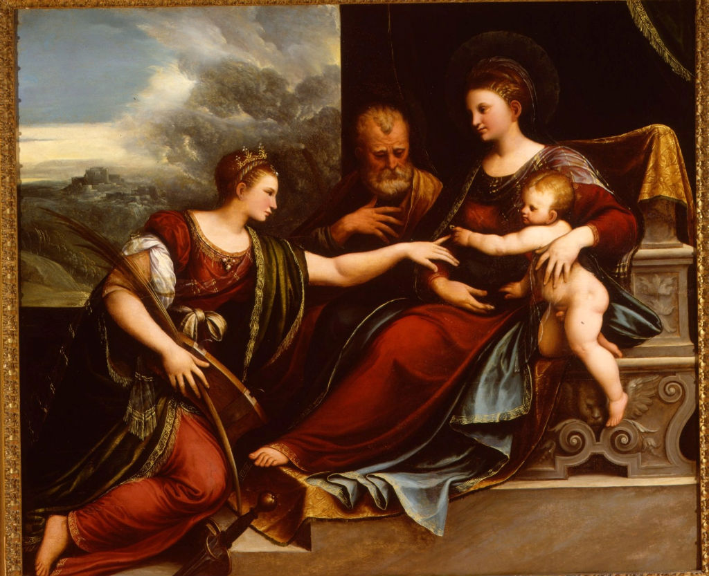 Girolamo da Treviso, </br> The Mystic Marriage of Saint Catherine.