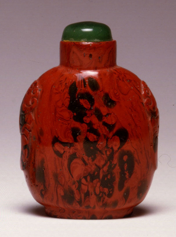 An opaque red glass snuff bottle, 1800-1880.