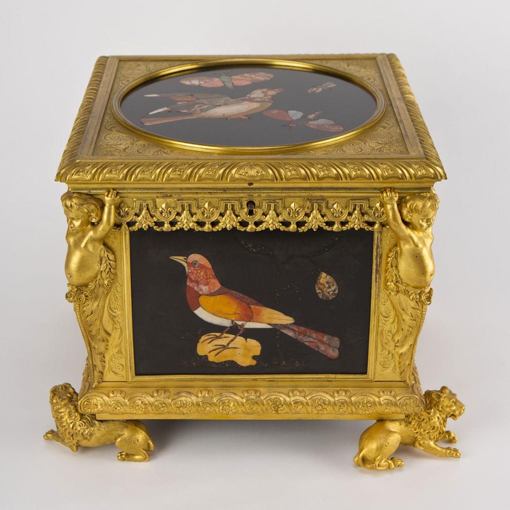 A Florentine pietra dura casket, 17th Century.