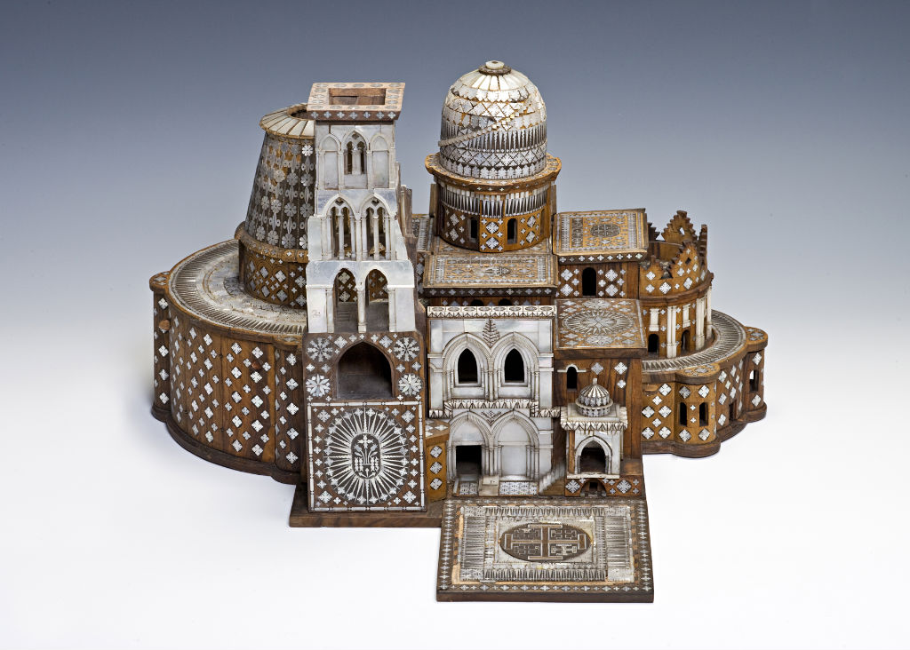 A Damascus work model of the Church of the Holy Sepulchre, Jerusalem, late 17th/early 18th Century.