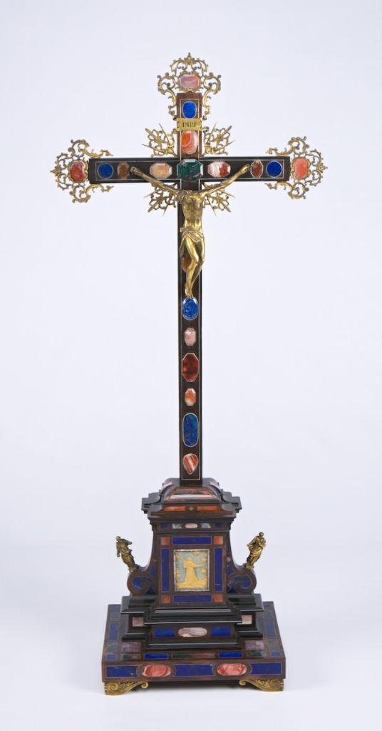 A Florentine ebony altar cross, circa 1680.